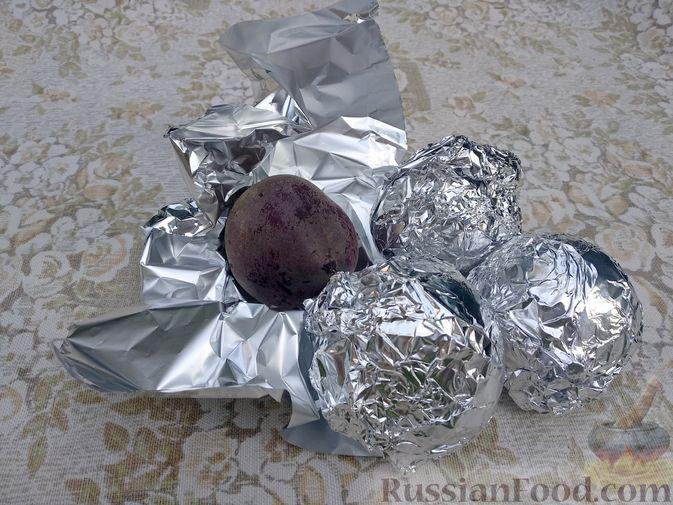 Фото приготовления рецепта: Запечённая свёкла в соусе бешамель - шаг №2