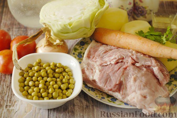 Фото приготовления рецепта: Фриттата с лососем и брюссельской капустой - шаг №3