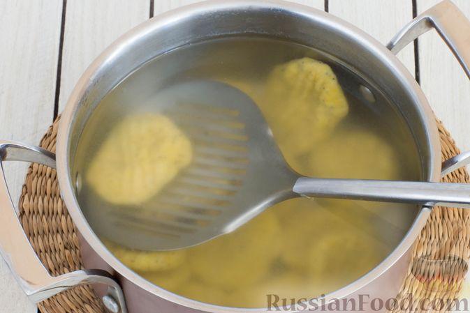 Фото приготовления рецепта: Ленивые вареники с тыквой и маком - шаг №10