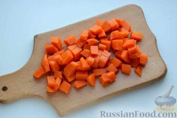 Фото приготовления рецепта: Омлет с тыквой - шаг №3