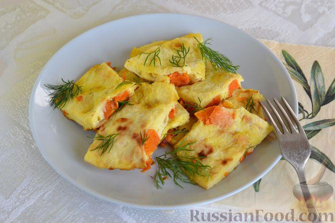 Фото приготовления рецепта: Омлет с тыквой - шаг №10