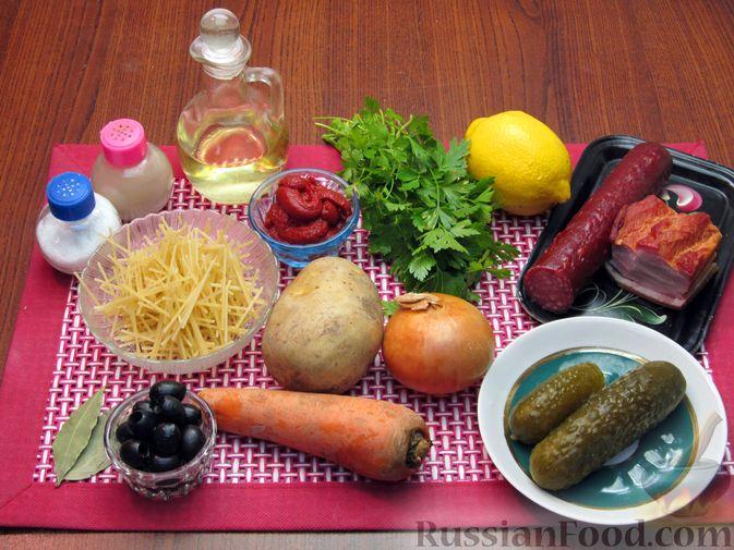 Фото приготовления рецепта: Солянка с вермишелью - шаг №1