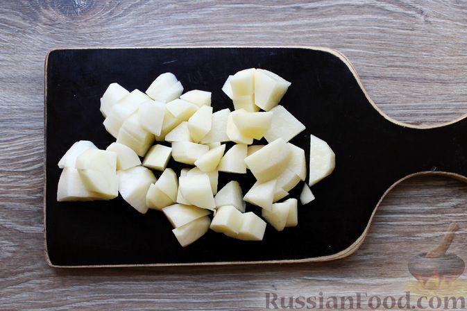 Фото приготовления рецепта: Куриный суп с творожными клёцками - шаг №9