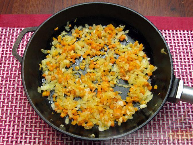 Фото приготовления рецепта: Тыквенный суп-пюре с копчёной курицей - шаг №6