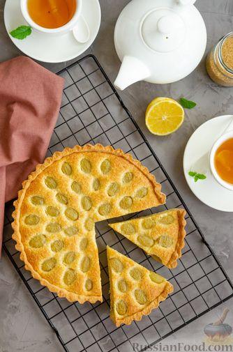 Фото приготовления рецепта: Тарт с франжипаном и виноградом - шаг №19