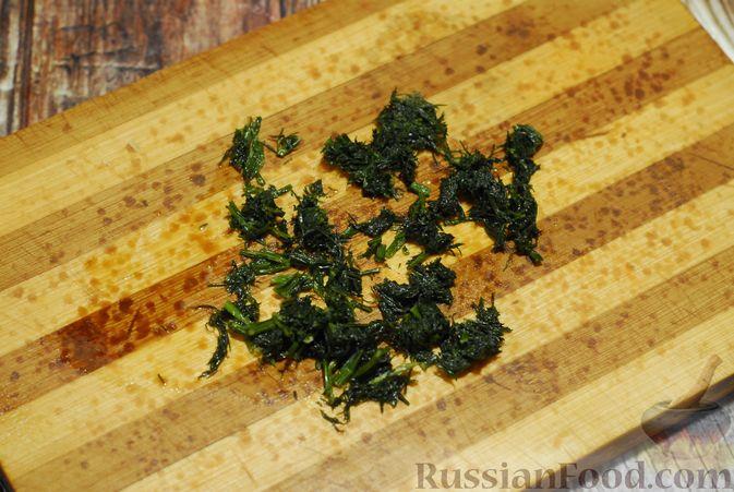 Фото приготовления рецепта: Суп-пюре из брюссельской капусты со сметаной - шаг №12