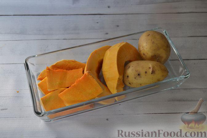 Фото приготовления рецепта: Тыквенные ньокки со сливочно-сырным соусом с ветчиной - шаг №2