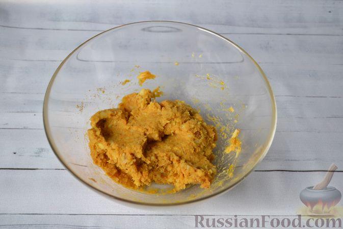 Фото приготовления рецепта: Тыквенные ньокки со сливочно-сырным соусом с ветчиной - шаг №10