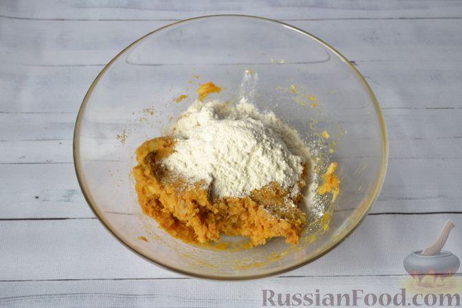 Фото приготовления рецепта: Тыквенные ньокки со сливочно-сырным соусом с ветчиной - шаг №11