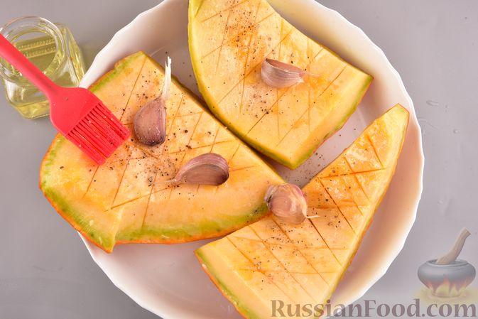 Фото приготовления рецепта: Суп-пюре из запеченной тыквы с имбирем - шаг №2