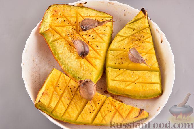 Фото приготовления рецепта: Суп-пюре из запеченной тыквы с имбирем - шаг №3