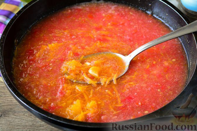 Фото приготовления рецепта: Куриные тефтели с тыквой и сыром в томатном соусе - шаг №13