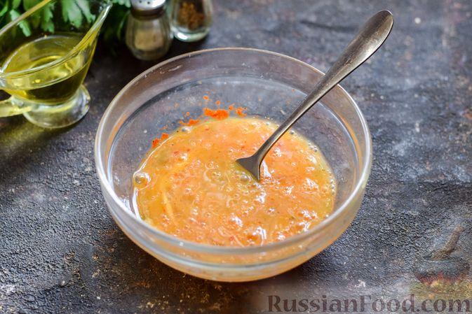 Фото приготовления рецепта: Омлет с тыквой и зеленью - шаг №4