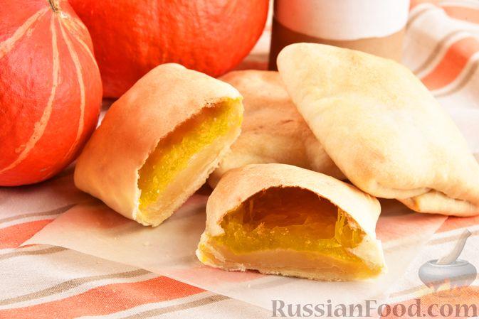 Фото к рецепту: Плацинды с тыквой (в духовке)
