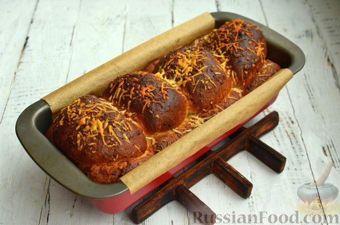 Фото приготовления рецепта: Хлеб с пармезаном и орегано - шаг №12