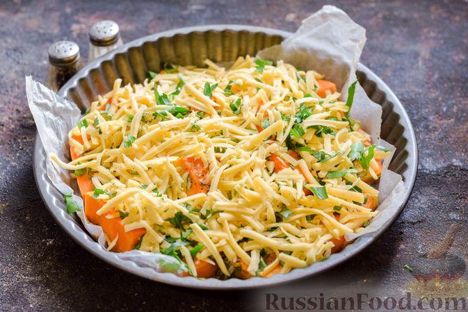 Фото приготовления рецепта: Тыква, запечённая с травами и сыром - шаг №10