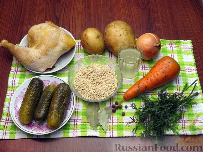 Фото приготовления рецепта: Рассольник с курицей - шаг №1
