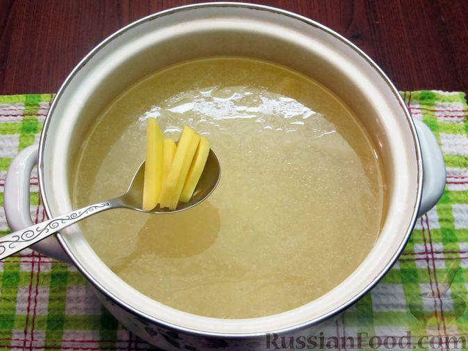 Фото приготовления рецепта: Рассольник с курицей - шаг №17