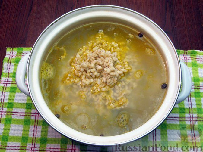 Фото приготовления рецепта: Рассольник с курицей - шаг №21