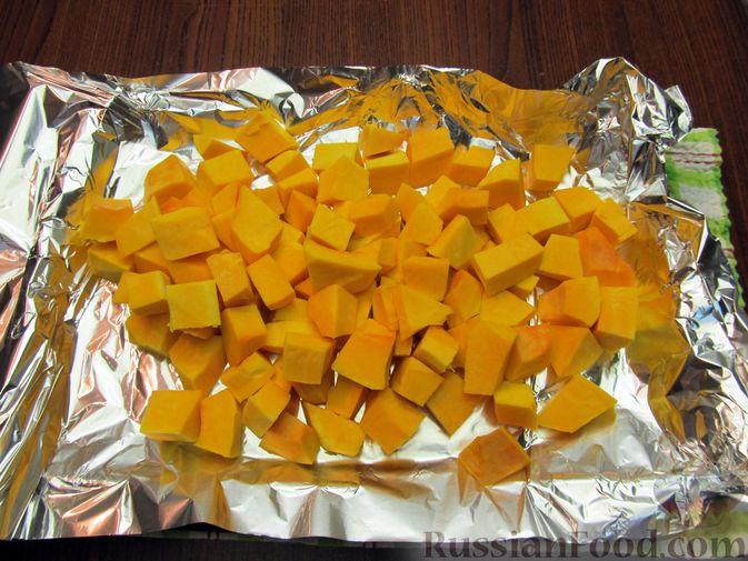 Фото приготовления рецепта: Тыквенный рахат-лукум с апельсиновым соком, цедрой и кокосовой стружкой - шаг №2