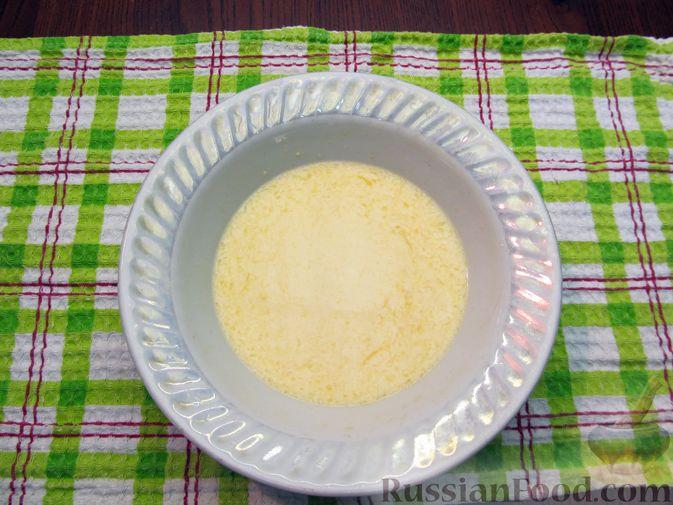 Фото приготовления рецепта: Тыквенный рахат-лукум с апельсиновым соком, цедрой и кокосовой стружкой - шаг №7
