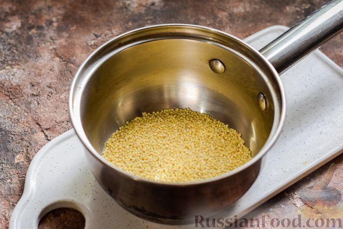 Фото приготовления рецепта: Шоколадная пшённая каша с творогом - шаг №2