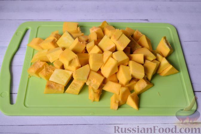 Фото приготовления рецепта: Запеканка из тыквы с мясным фаршем и помидорами - шаг №9
