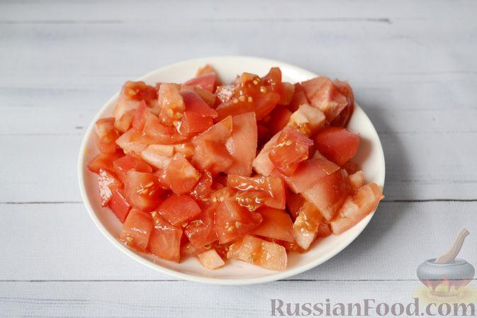 Фото приготовления рецепта: Запеканка из тыквы с мясным фаршем и помидорами - шаг №3