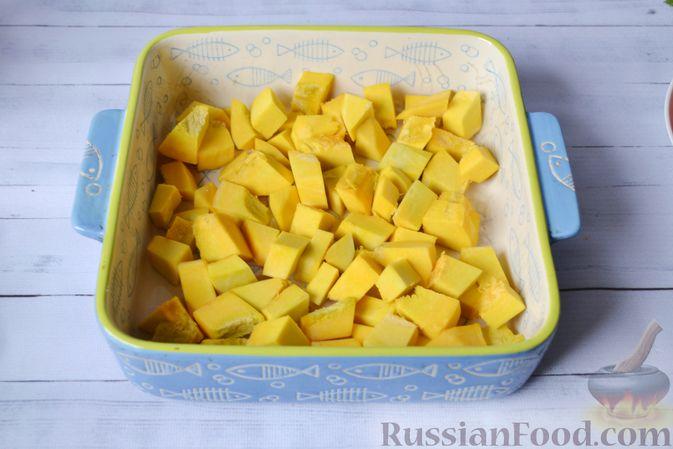 Фото приготовления рецепта: Запеканка из тыквы с мясным фаршем и помидорами - шаг №10
