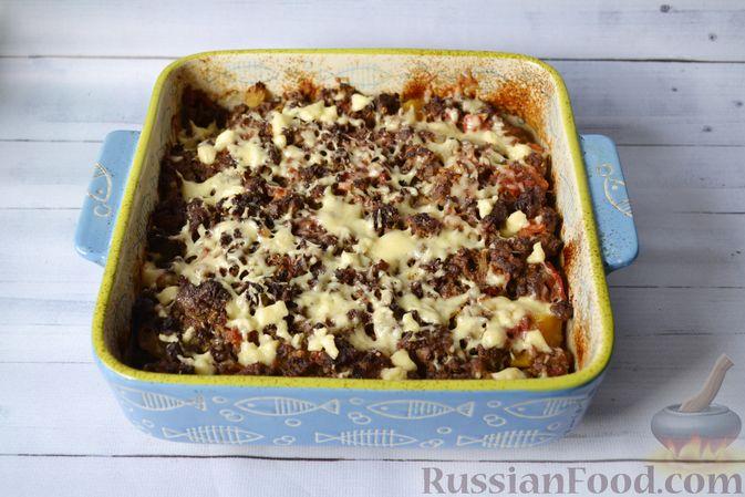Фото приготовления рецепта: Запеканка из тыквы с мясным фаршем и помидорами - шаг №15