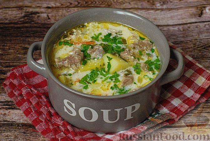 Фото к рецепту: Говяжий суп со сметаной и хреном