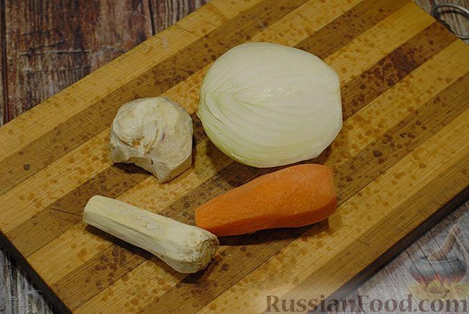 Фото приготовления рецепта: Говяжий суп со сметаной и хреном - шаг №3