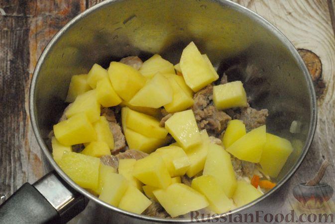 Фото приготовления рецепта: Говяжий суп со сметаной и хреном - шаг №8