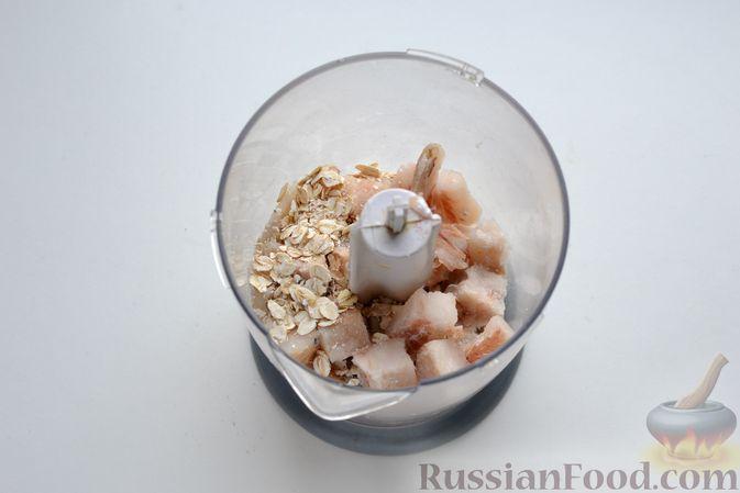 Фото приготовления рецепта: Гречневый суп с тыквой и рыбными фрикадельками - шаг №6