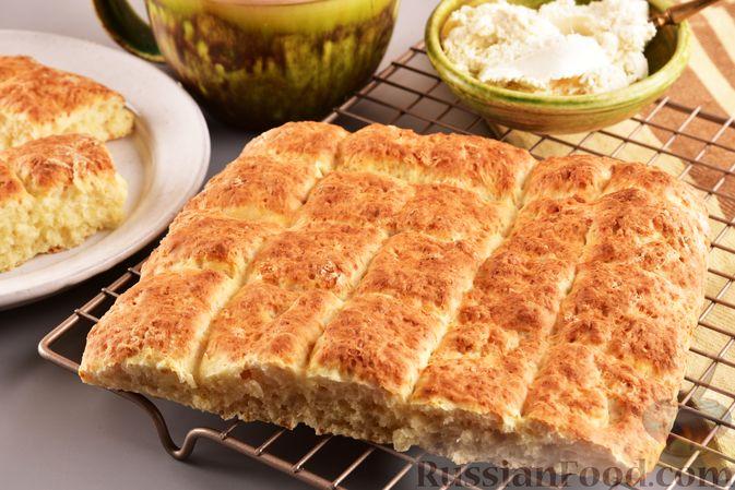 Фото к рецепту: Творожный бездрожжевой хлеб