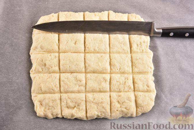 Фото приготовления рецепта: Творожный бездрожжевой хлеб - шаг №8