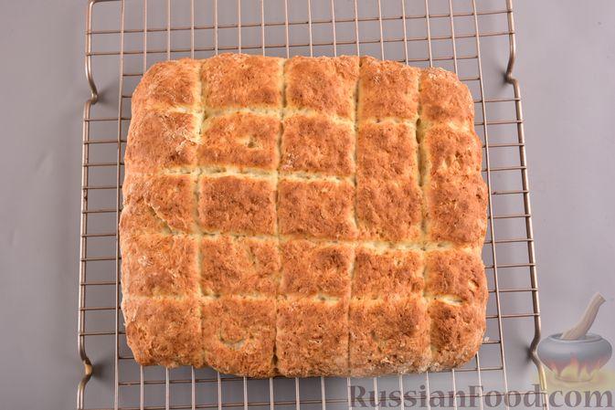 Фото приготовления рецепта: Творожный бездрожжевой хлеб - шаг №9