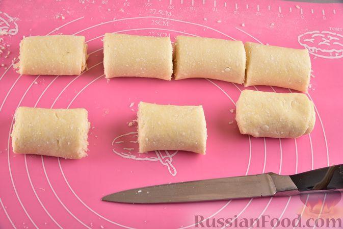Фото приготовления рецепта: Творожное печенье с кокосовой начинкой - шаг №13