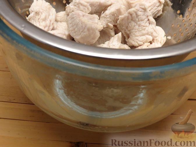 Фото приготовления рецепта: Суп-пюре из сельдерея, яблок и индейки - шаг №4