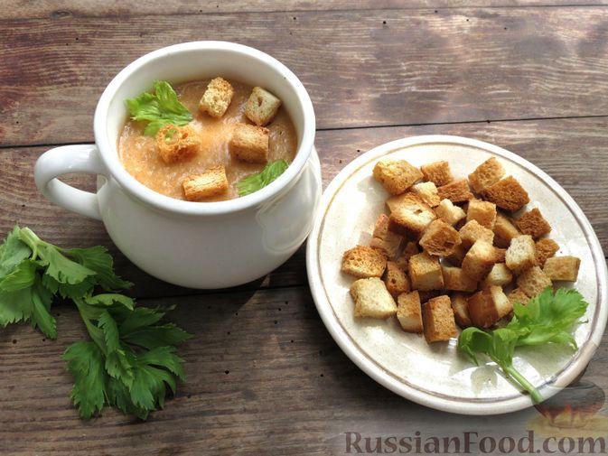 Фото приготовления рецепта: Суп-пюре из сельдерея, яблок и индейки - шаг №23