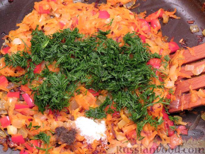 Фото приготовления рецепта: Рулеты из скумбрии с болгарским перцем, морковью и сыром - шаг №10
