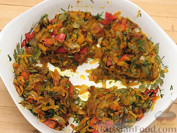 Фото приготовления рецепта: Рулеты из скумбрии с болгарским перцем, морковью и сыром - шаг №14