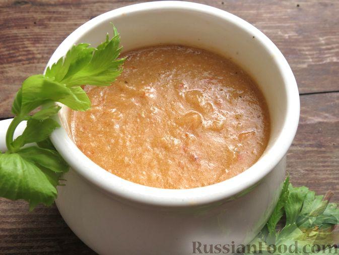 Фото приготовления рецепта: Суп-пюре из сельдерея, яблок и индейки - шаг №22