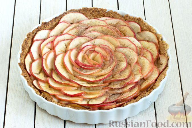 Фото приготовления рецепта: Тарт из песочного теста с яблоками - шаг №21
