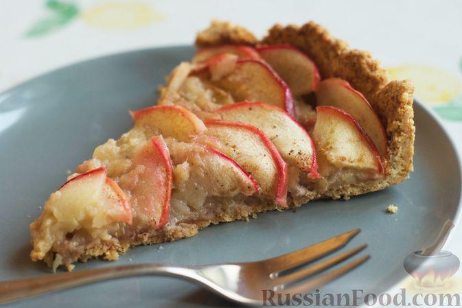 Фото приготовления рецепта: Тарт из песочного теста с яблоками - шаг №22