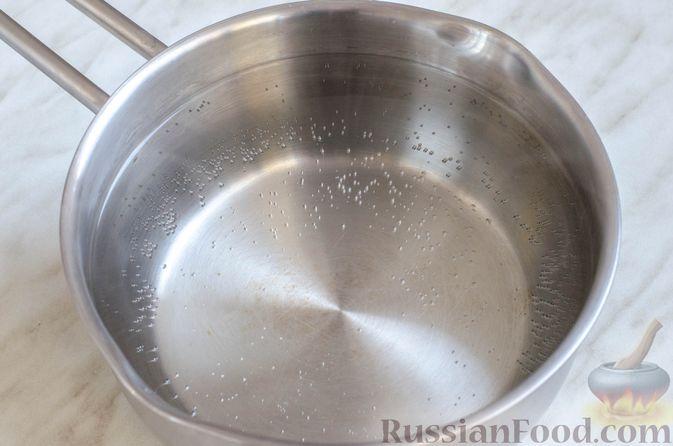 Фото приготовления рецепта: Суп со свининой, куриной печенью, грибами и корнем сельдерея - шаг №14