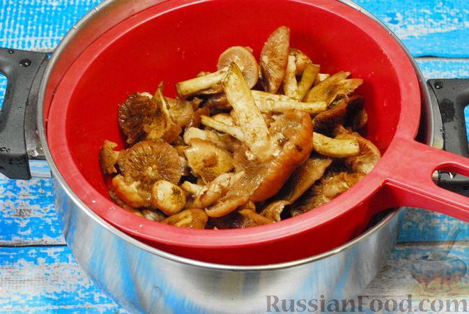 Фото приготовления рецепта: Жареная картошка с опятами - шаг №3