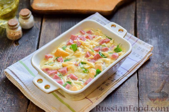 Фото приготовления рецепта: Капуста, тушенная с мясом и рисом (на сковороде) - шаг №4