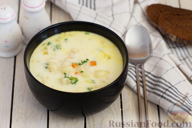 Фото к рецепту: Сливочный суп с цветной капустой