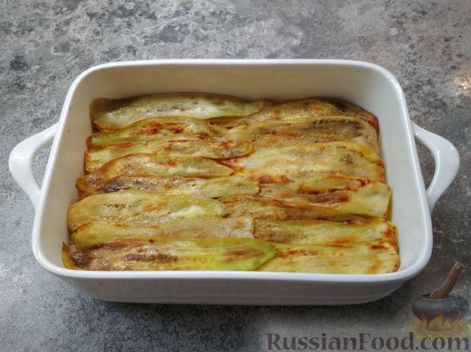 Фото приготовления рецепта: Запеканка из баклажанов, картофеля и мясного фарша - шаг №5